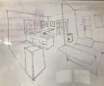 間取り図の『ちょっとだけ』手書きパースを描きます 建築士が、立体図をササッと描いてほしいという要望に応えます!