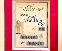 カリグラフィー歴10年:ウェルカムボード作成します 心を込めて一品一品手書きで結婚式用のウェルカムボードを作成