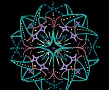 あなただけのオリジナル開運マンダラをお描きします ラッキーカラーで描く開運やセラピー効果のある鑑定つきお守り