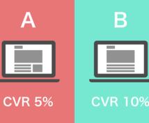 サイトのCVR改善!サイト診断・LPO代行します 集客後のCVR改善しませんか?申込数・販売数向上を支援!