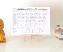 未来を占える開運暦カレンダーをエクセルで配布します こよみ占いで重要な項目がパッとわかる!初心者の方でも大変便利