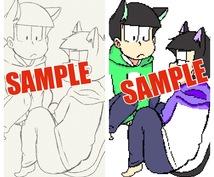 あなたの線画をドット絵にし、色付けします 絵柄はそのままにドット絵にしてみませんか?