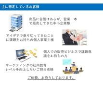 マーケティング。売れる戦略をアドバイス致します 一部上場企業の現職マーケター。戦略アドバイスから資料添削まで