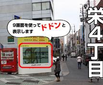 新規開設したサイトを名古屋の大型スクリーンで告知!!