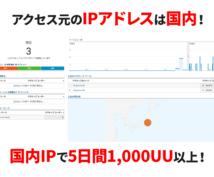 増枠!自然検索で1日200UU以上アクセスさせます 5日間5千PV以上!直帰率改善!国内IPでSPもタブレットも