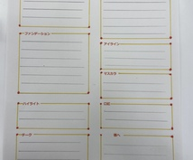 メイクのカタログ作ります メイクのアドバイスシート、推奨アイテムシートの2枚作成