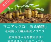 マニアックな「ある植物」の輸入転売ノウハウ教えます 超穴場仕入先を利用した独自ノウハウで、商材コレクターを卒業!