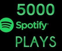 Spotify再生回数5000増えるまで拡散します あなたの楽曲を再生回数が5000回増えるまで拡散します。