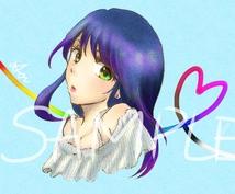 SNSで使える可愛いイラスト描きます 可愛い女の子や萌え系女子が好きな人にオススメ!