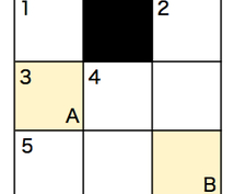 オリジナルクロスワードパズル【ミニ】作ります パズルを解いて初めて伝わるメッセージ