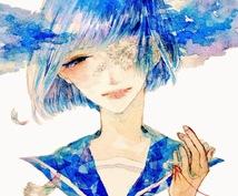 SNSアイコン、ヘッダー承ります 青色が好きな方、イラストが好きな方、水彩が好きな方