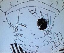 アイコン、サムネ ちびキャラにして描きます(アナログ)