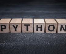Pythonの学習支援・技術支援を致します Pythonを扱える開発者を目指す方向けです!!