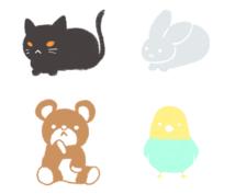 動物のイラスト描きます ふんわり動物イラストを描きます。SNSアイコン・挿絵用