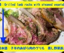 海外のレストランの英語メニューを日本語に翻訳します 海外旅行中に行きたいレストランのメニューを日本語でチェック!
