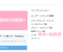 男性向けの宣伝♡大歓迎♡ツイッターで広告撃ちます 一撃10万PV以上獲得可能♡男性向けの拡散専門♡長期宣伝OK