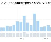 Twitterで宣伝、集客!合計8万人に拡散します 【1.5万インプレッション保証】ツイートアクティビティ公開!