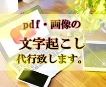 画像やpdfファイルから文字起こし致します 簡単だけど面倒くさい作業、代行させて頂きます。