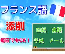 フランス語ネイティブが簡単な文章の添削をします ☆メール、日記、お手紙まで様々な目的に!