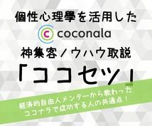 ココナラ集客・売上UPのハンパないノウハウ教えます メンターから教わったココナラ神集客ノウハウ取説「ココセツ」