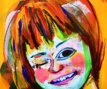 プレゼント用の似顔絵を絵画用のキャンバスに描きます 世界に一つのオシャレなプレゼントがあればなぁ、そんなあなたへ