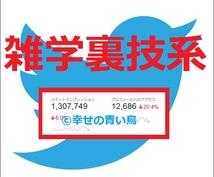【★属性指定▶雑学裏技系★】TwitterアカウントでCM情報拡散宣伝PR