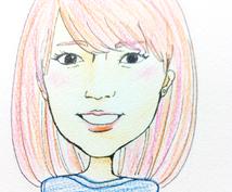 写真をもとに、手描きの似顔絵描きます。