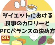 1日に摂取できるカロリー&PFCバランス教えます ダイエットは食事のコントロールから!複雑な計算を代行
