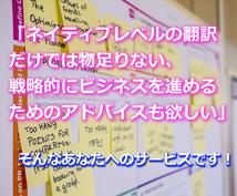 海外とのビジネスメール、翻訳&戦略アドバイスします 戦略的ビジネスメールのご提案&日英翻訳!ネイティブチェック込