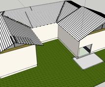 CAD(jwcad),sketchup(3Dグラフィック)を用いて図面、3Dモデルの作成をします。
