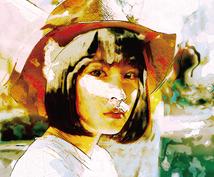 お写真から海外アート風の似顔絵イラストを作ります SNSのアイコンなどに、オシャレな海外アート風似顔絵イラスト