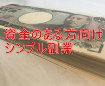 資金100万円ある人向けのシンプルな副業教えます 資金を活用して、方法のご紹介です。