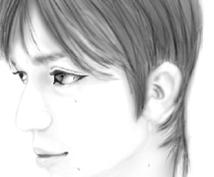 *写真をもとに似顔絵を描きます*