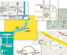 英語版!地図制作をいたします 英語版の地図を3,000円~で制作いたします!:)