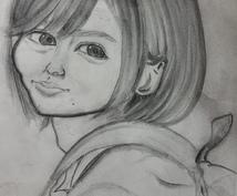 鉛筆画の似顔絵描きます(^-^)