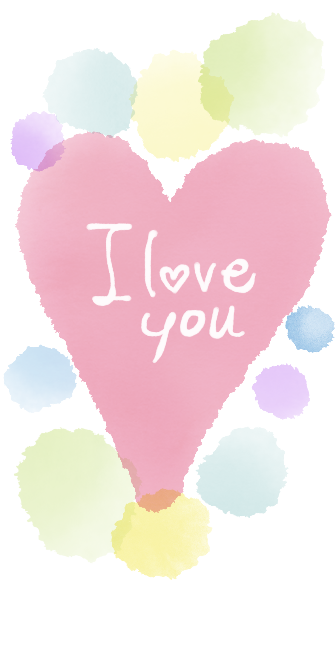 ほんわかシンプル可愛いメッセージイラストを描きます 自分の壁紙や