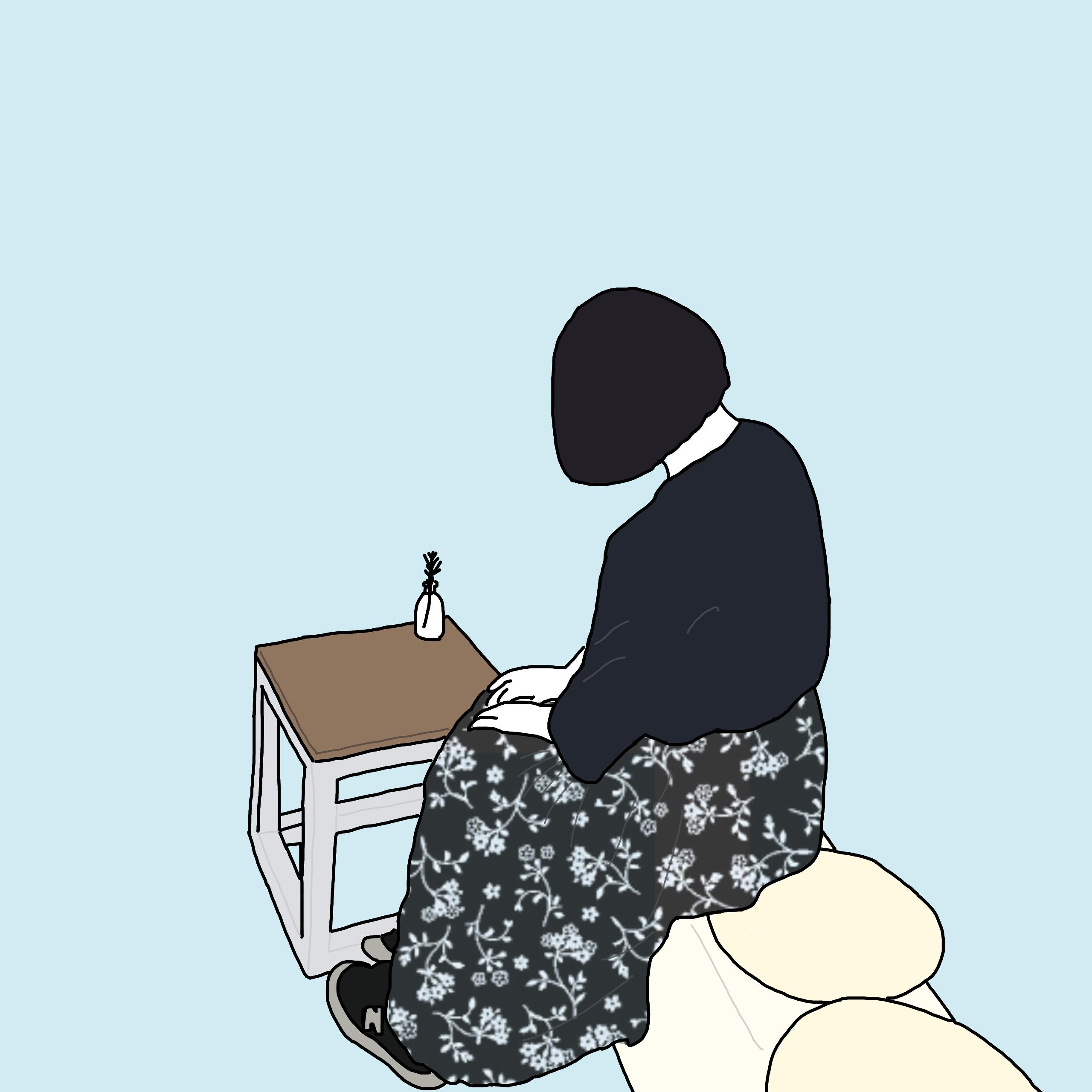 韓国風のおしゃれなイラスト描きます プロフ画像の使用や友達の
